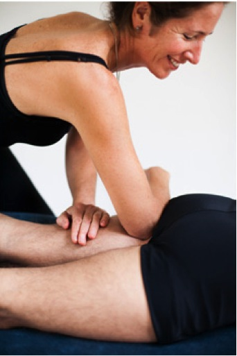 Sports massage therapy.